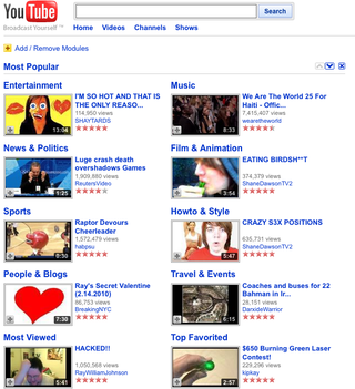 Most Popular-YouTube